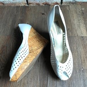 STEVE MADDEN Wedge High Heels VISIBLE Shoes ~ 9.5